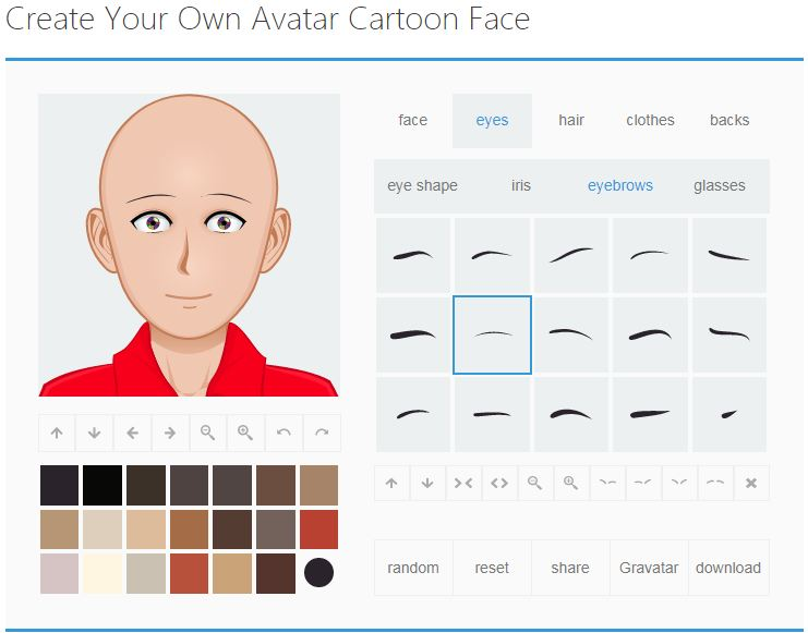 Cartoon Avatar Maker - a Web App for Create Your Own Avatar Cartoon Face